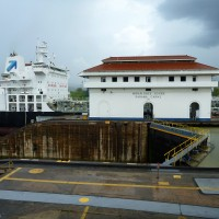 Miraflores Locks in Panama City, Panama