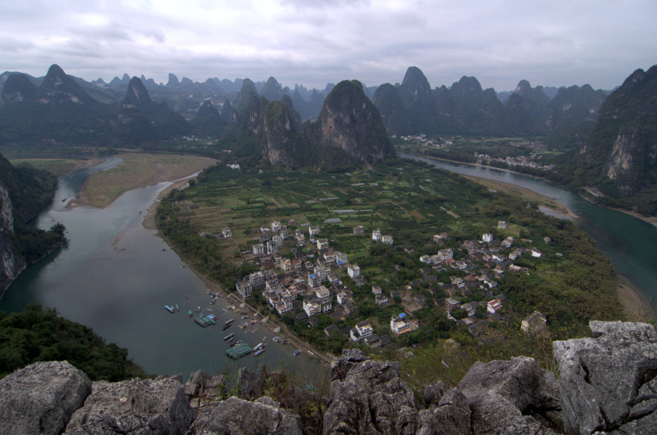 Photo of View from one of the karst hills around Yangshuo